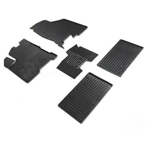 Резиновые ковры в салон Seintex 90630 ВАЗ (LADA) Vesta 1 поколение [2015-...] (для авто с 2018 г.в.-)