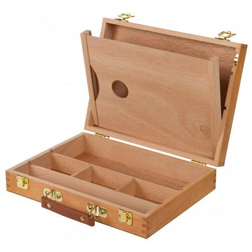 Купить Ящик художника Pinax SB-5 с ячейками и пеналом, с палитрой натуральный, Доски и мольберты