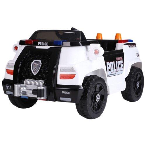 Купить Электромобиль Полиция TM CITY-RIDE, машина детская на аккумуляторе с пультом управления, машинка детская для малышей на радиоуправлении, для детей, 1B4M 12V4AH*1, 390*4, свет, звук, амортизация, цвет белый, Электромобили