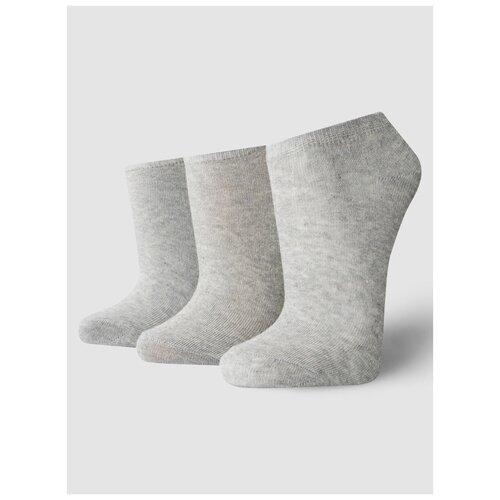 Носки ТВОЕ A6172, 3 пары, размер one size (35-41), светло-серый