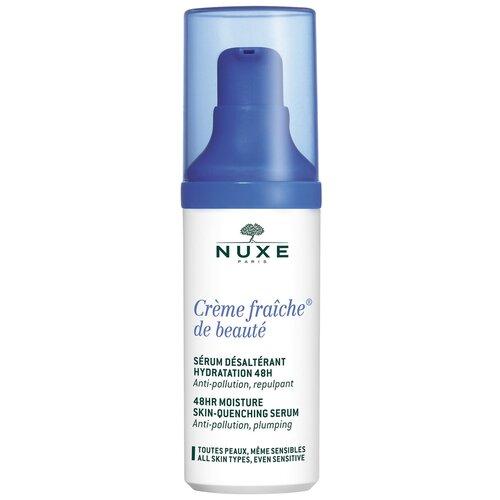 Nuxe Creme Fraiche de Beaute 48H Moisture Skin Quenching Serum Интенсивная увлажняющая сыворотка для лица, шеи и области декольте, 30 мл недорого