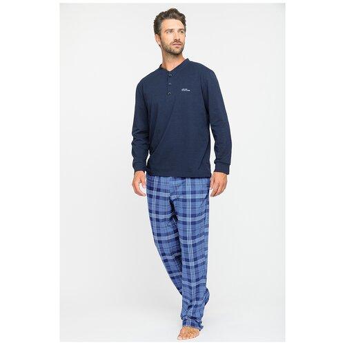 комплект домашний женский vienetta s secret цвет розовый 711026 5167 размер 3xl 54 Домашний костюм - пижама Ménage (PM № 84) размер 3XL (54-56), синий