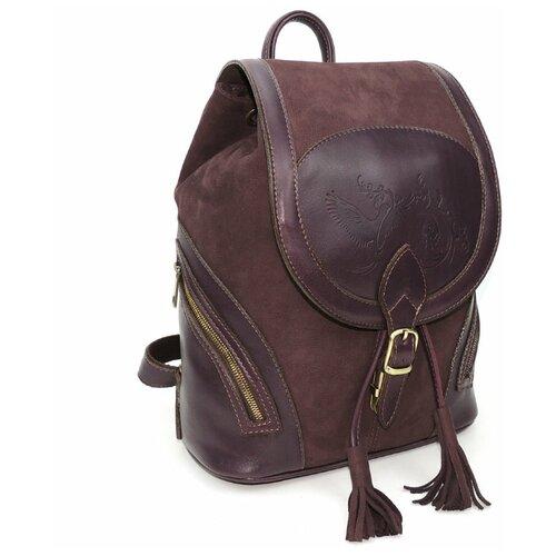 Фото - Бордовый кожаный рюкзак из нубука Natalia Kalinovskaya «Кашемир» Рюкзак Р-50.482 бордо нубук рюкзак 605030 бордовый