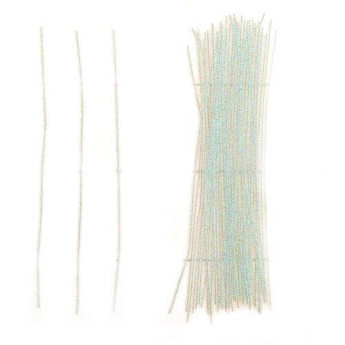 Купить Проволока с ворсом для поделок Блеск , набор 50 шт, размер 1 шт 30*0, 6 см цвет перламутр 4449526, Сима-ленд, Украшения и декоративные элементы