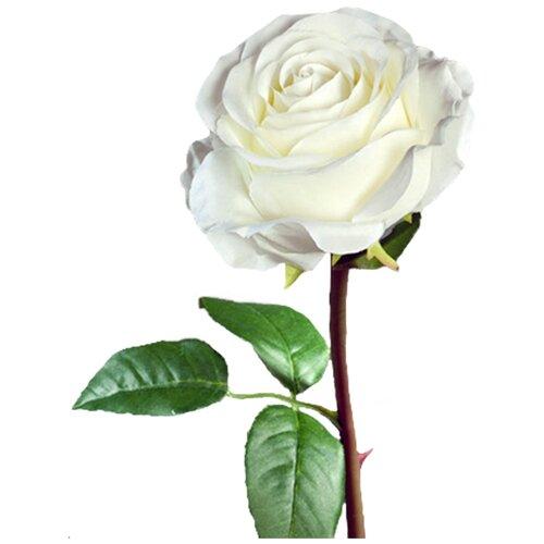 Искусственный цветок Роза Соло Нью большая белая 72 см pablo de gerard darel белая блузка с рельефной отделкой