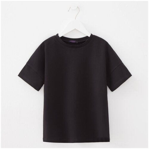 Купить Футболка Minaku, размер 116, черный, Футболки и майки