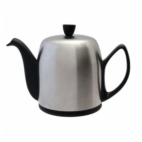 Фото - Чайник заварочный Salam Mat Black (1 л), с колпаком, с ситечком, на 6 чашек 211993 Guy Degrenne чайник заварочный salam white 0 37 л с колпаком с ситечком на 2 чашки 211987 guy degrenne