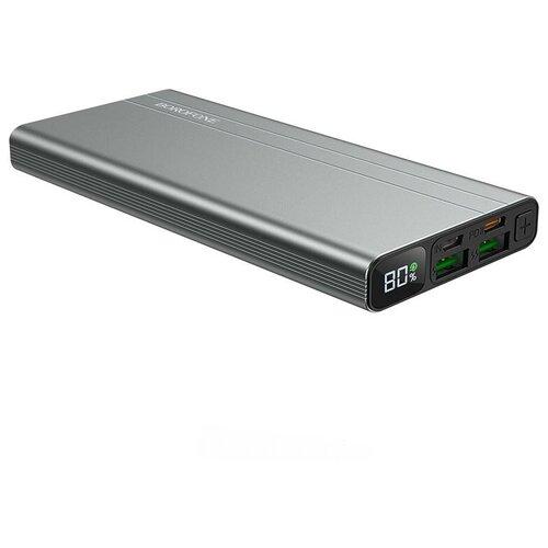 Внешний аккумулятор BOROFONE BT34 10000mAh 18W/USB 3.0/2USB/Micro/Type-C/дисплей (серый)