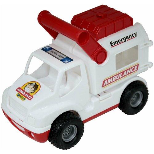 Фургон Wader Скорая помощь КонсТрак (0490), 24 см, белый/красный фургон wader спасательная команда 0537 24 см