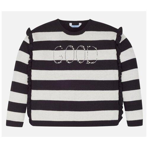 Купить Джемпер Mayoral размер 8(128), черный/белый, Свитеры и кардиганы