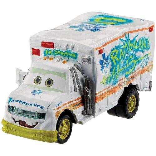 Машинка Mattel Cars Доктор Скрежет (DXV/GXG71), белый mattel машинка cars пол лошсил меняет цвет