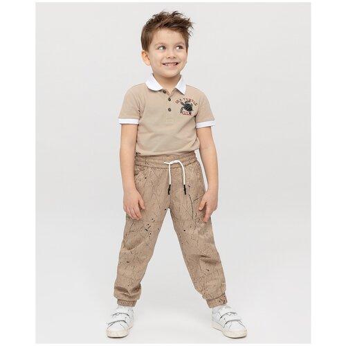 Спортивные брюки Gulliver размер 104, бежевый