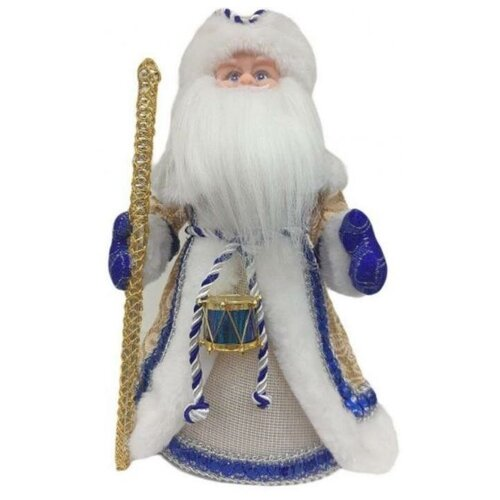 Фигурка Новогодняя Сказка Дед мороз 40 см (972858) белый/синий