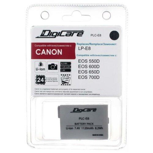 Фото - Аккумулятор DigiCare PLC-E8 / LP-E8 / EOS 550D, 600D, 650D, 700D аккумулятор fb lp e8 для canon eos 650d 600d 550d 700d