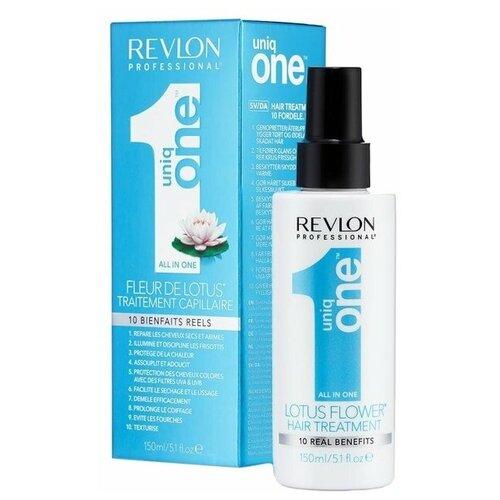 Revlon Professional Uniq One Маска-спрей несмываемая Lotus для волос, 150 мл revlon professional спрей естественная фиксация и ультраблеск 300 мл revlon professional средства для укладки
