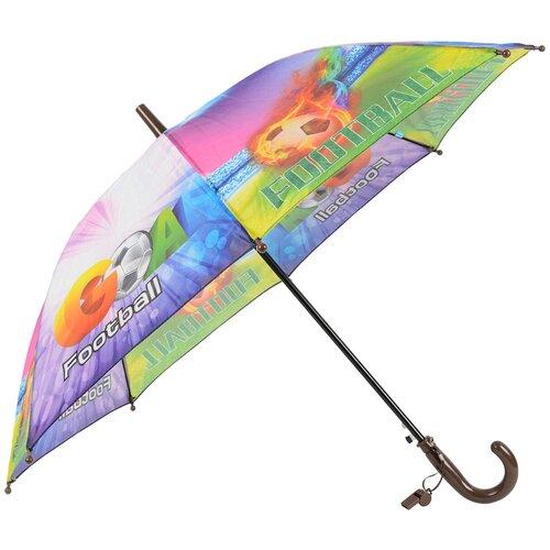 Зонт-трость полуавтомат детский Rain Lucky 915-6 LACN со свистком