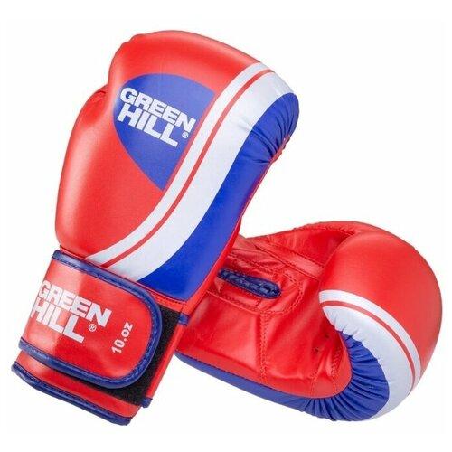 Боксерские перчатки Green hill Knockout (BGK-2266) красный 12 oz