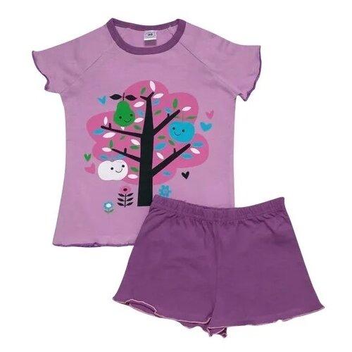 Купить Пижама Клякса размер 116, сиреневый, Домашняя одежда