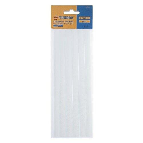 TUNDRA Клеевые стержни 11 х 200 мм по керамике и пластику, 6 шт