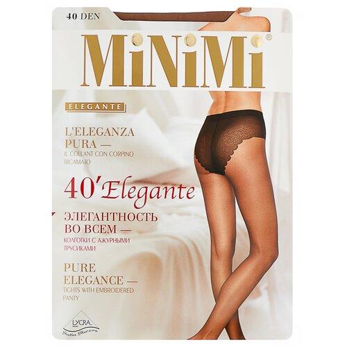 Фото - Колготки MiNiMi Elegante, 40 den, размер 3-M, daino (бежевый) колготки minimi slim control 40 den размер 3 m daino бежевый