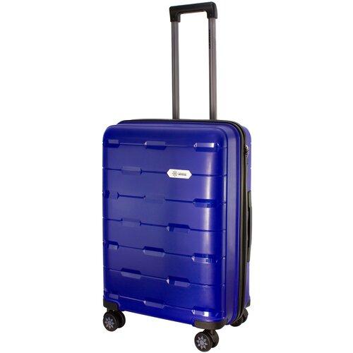 Фото - Чемодан PROFFI Tour Fashion M 62 л, синий чемодан proffi travel tour fashion 24 pp пластиковый средний 64 5х47х27 желтый