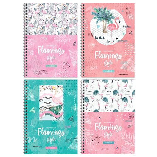 ArtSpace Упаковка тетрадей Стиль. Flamingo