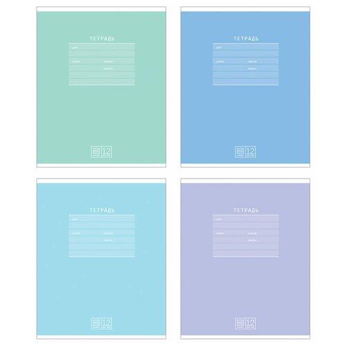 BG Упаковка тетрадей Классная-soft Т5ск12 8962, 16 шт./4 дизайна, линейка, 12 л.