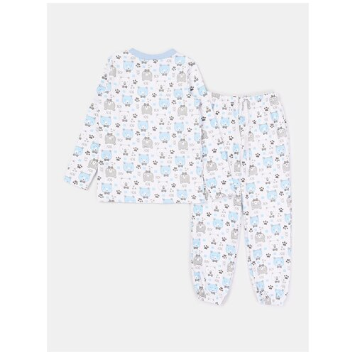 Пижама: Джемпер, брюки КотМарКот, 2690916 (размер 86, цвет Белый) пижама double trouble белый оранжевый 86 размер