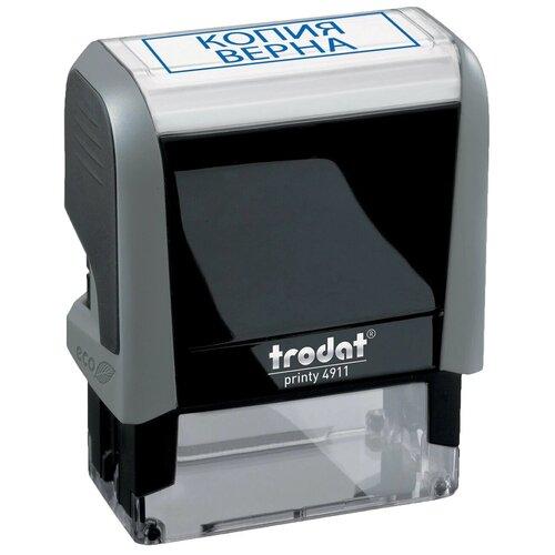 Фото - Штамп стандартный КОПИЯ ВЕРНА, оттиск 38х14 мм, синий, TRODAT 4911P4-3.45, 4911-3.45 штамп trodat 4911 db прямоугольный копия верна самонаборный синий