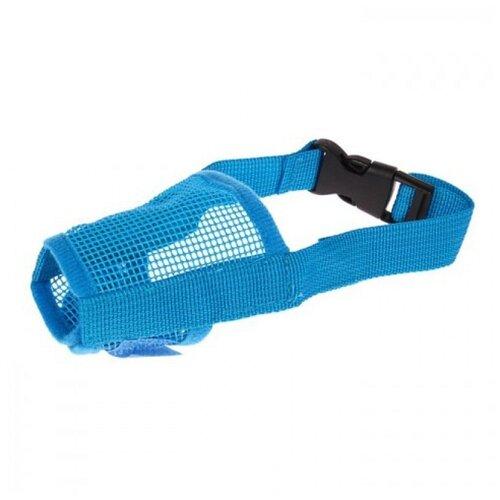 Намордник для собак Пижон сетчатый с двойной фиксацией M (3652883/3652886/3652889), обхват морды 20 см голубой намордник для собак пижон пластиковый размер 5 1726903 обхват морды 30 см бежевый