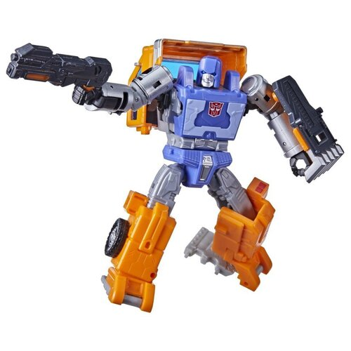 Купить Трансформер Transformers Королевство. Класс Делюкс. Хаффер (F0675) синий/оранжевый/серый, Роботы и трансформеры