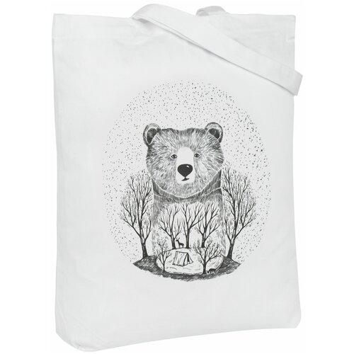 Сумка-шоппер Bear, молочно-белая
