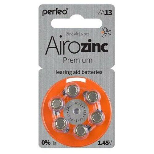 Фото - Батарейки для слуховых аппаратов ZA13 воздушно-цинковая Perfeo ZA13/6BL Zinc Air 6 шт контактные линзы alcon air optix aqua 6 шт r 8 6 d 01 00