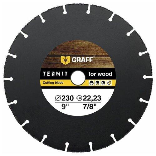 Фото - Диск отрезной GRAFF Termit 230, 230 мм 1 шт. диск отрезной по металлу 230 2 0 22 23 graff gadm 230 20