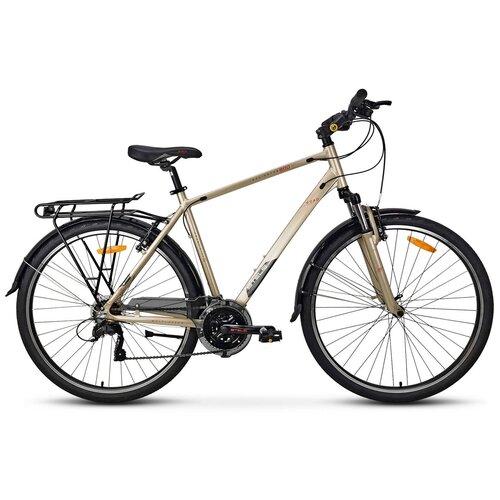велосипед stels navigator 800 lady 28 v010 17 синий Дорожный велосипед STELS Navigator 800 Gent 28 V010 (2021) желтый 21 (требует финальной сборки)