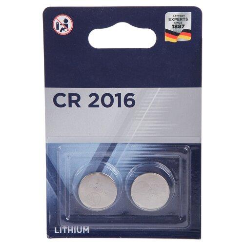 Фото - Батарейка CR2016 - Varta CR2016/2BL 6016101402 батарейка cr2016 литиевая varta cr2016 3v 1 шт