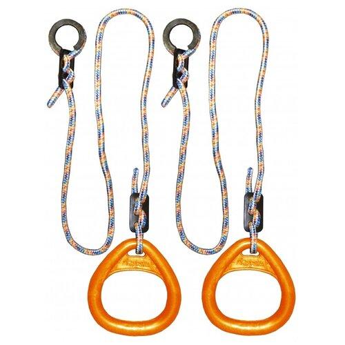 Купить Кольца гимнастические треугольные 02 В для Детского Спортивного Комплекса orange, Формула здоровья, Игровые и спортивные комплексы и горки