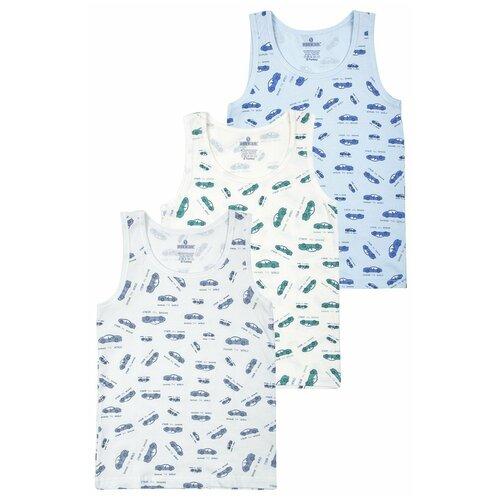 Купить Майка BAYKAR 3 шт., размер 170/176, молочный/серый/голубой, Белье и пляжная мода