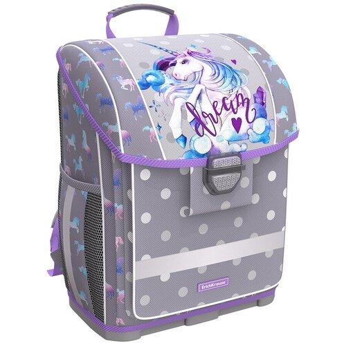 Купить ErichKrause ранец ErgoLine Dream Unicorn, серый, Рюкзаки, ранцы