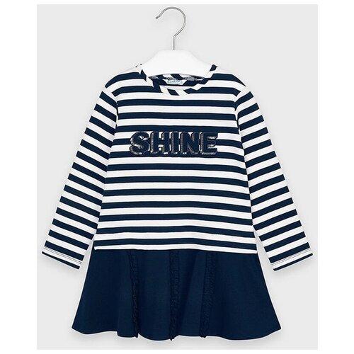 Платье Mayoral размер 9(134), темно-синий брюки mayoral 04551 размер 9 134 015 темно синий