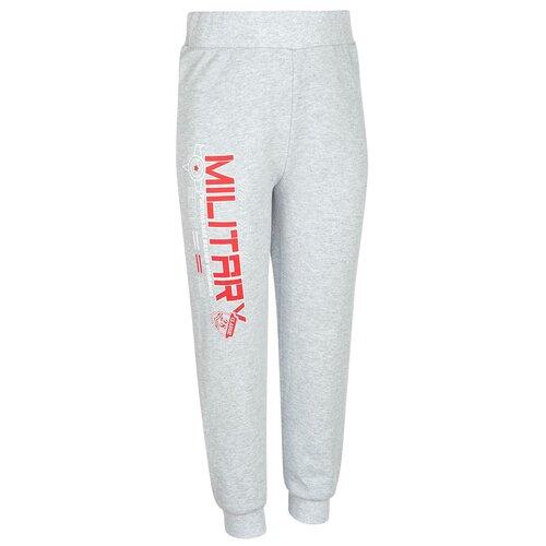 Спортивные брюки M&D размер 98, серый меланж