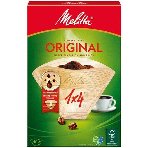 Одноразовые фильтры для капельной кофеварки Melitta Original коричневые Размер 1х4 коричневый
