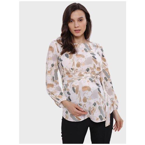 Блузка I love mum Мэрион бежевая для беременных (42)