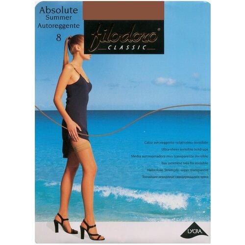 Чулки Filodoro Classic Absolute Summer Autoreggente, 8 den, размер 3-M, playa (бежевый)