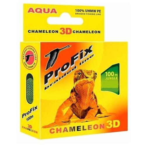 Леска плетёная Aqua ProFix Chameleon 3D Jungle, d=0,18 мм, 100 м, нагрузка 11,2 кг 2173970 по цене 262