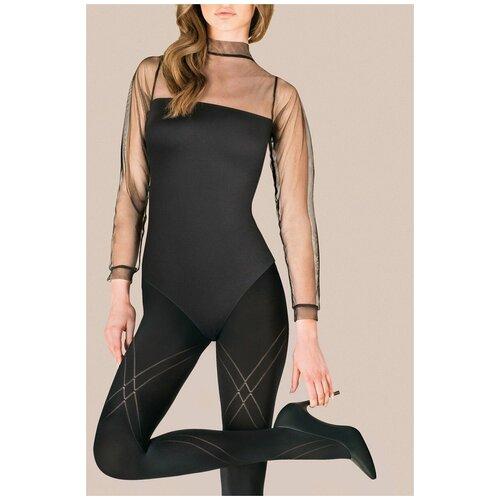 Gabriella Фантазийные колготки Megan с ромбовидным узором, черный, 3 размер