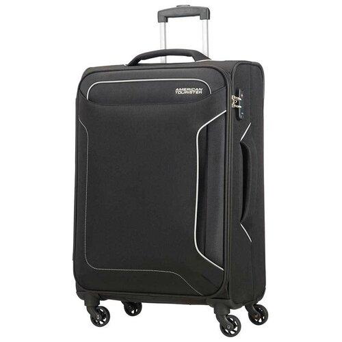 Чемодан American Tourister Holiday Heat Spinner 66 л, черный чемодан american tourister sunside черный m