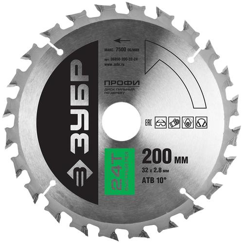 Фото - Пильный диск ЗУБР Профи 36850-200-32-24 200х32 мм пильный диск зубр эксперт 36901 200 32 24 200х32 мм