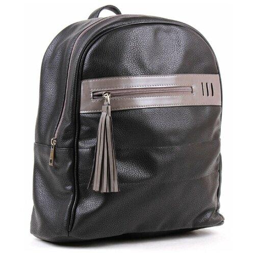 Черный рюкзак Медведково из искусственной кожи