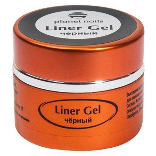 Купить Краска гелевая planet nails Liner Gel для тонких линий черный